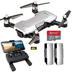Flashandfocus.com 51mYVwt5IxL._SS300_ Contixo F30 Drone for Kids & Adults WiFi 4K UHD Camera and GPS, FPV Quadcopter for Beginners, Foldable mini drone…