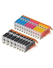 Zulu Inks® Compatible Ink Cartridge Replacement for PGI-250 , CLI- 251 , CLI-251XL , PGI-250XL, 20 Pcks 4 Small Black, 4 Cyan, 4 Magenta, 4 Yellow, 4 Big Black for PIXMA MG5420, PIXMA MG5422, PIXMA MG5520, PIXMA MG5522, PIXMA MG6320, PIXMA MG6420, PIXMA MG7120, PIXMA MX722, PIXMA MX922, PIXMA iP7220, PIXMA iP8720, PIXMA iX6820 . CLI-251BK , CLI-251C , CLI-251M , CLI-251XLBK , CLI-251XLC , CLI-251XLM , CLI-251XLY , CLI-251Y , PGI-250BK , PGI-250XLBK © Zulu Inks