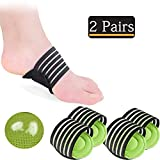 2 Pairs Compression Fasciitis Cushioned Arch Support Sleeves, Foot Relief Cushions for Plantar Fasciitis, Fallen Arches, Heel Spurs, Achy Feet Problems for Men and Women (Thicken)
