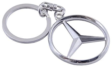 Mercedes Benz - Llavero con logo de Mercedes, color cromado ...