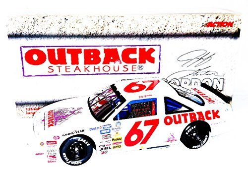 autographed-1990-jeff-gordon-67-outback-steakhouse-racing-busch-series-rookie-vintage-signed-action-