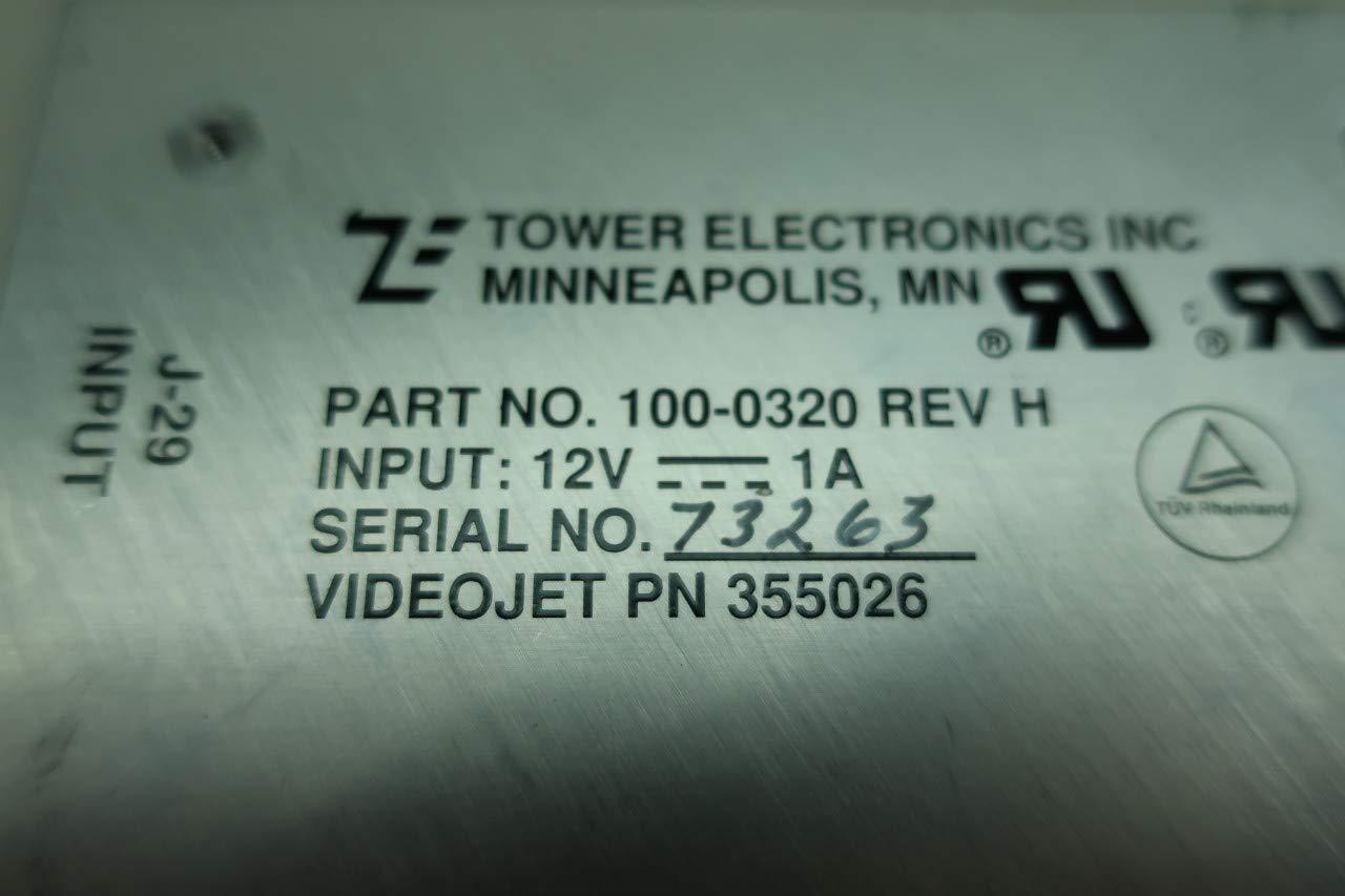 TOWER 100-0320 Power Supply 12V-DC 1A REV H D659836