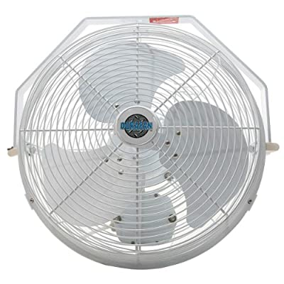"18"" Durafan Indoor/Outdoor Non-Oscillating Wall Mount Fan"