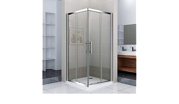 80 x 80 x 195 cm puerta corredera mampara de ducha acceso de ...