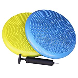 NDN LINE Inflated Air Stability Wobble Cushion/Exercise Fitness Core Balance Disc (35cm/14in Diameter)