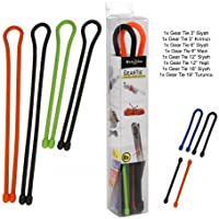 Nite Ize Original Gear Tie, Reusable Rubber Twist Tie, Assorted Colors and Sizes, 8 Pack, Made in the USA