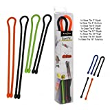 Nite Ize GTBA-A2-R8 Original Gear Tie, Reusable Rubber Twist Tie, Made in the USA, Assortment, 8 Pack