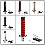 gear Short Samurai Sword Shift Knob Shifter Metal Weighted Sport Katana gear Shift Knob with 14mm Hole For Universal Cars Red With Black Color