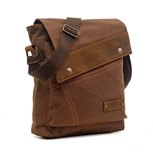 Lastdaydeal.com Sechunk Cotton Canvas Leather Shoulder Bag -
