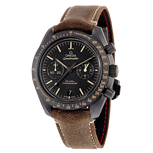 Omega Speedmaster Moonwatch Co-Axial Black Dial Chronograph Automatic Mens Watch (Omega Watch)