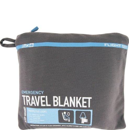 FLIGHT 001 Travel Emergency Blanket Charcoal
