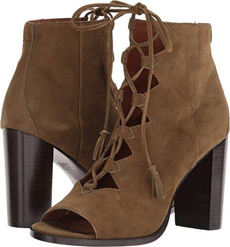 FRYE Women's Gabby Ghillie Boot, Khaki Suede, 7.5 M US -