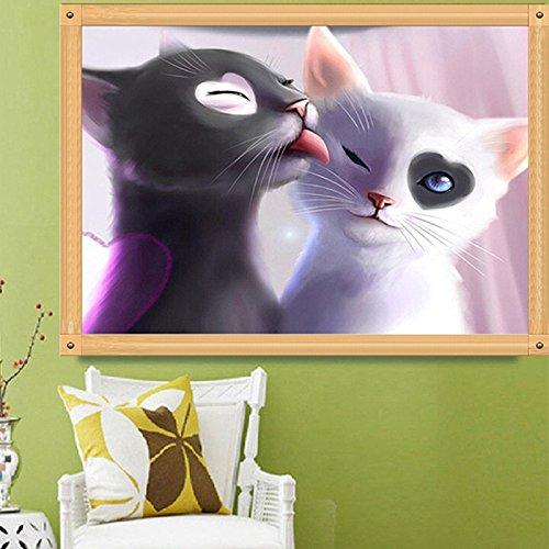 Kalttoy 5D DIY punto croce ricamo Diamond Painting Home Decoration Cat Lover