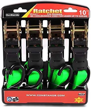Spanngurte mit Ratsche 4X f/ür KTM Freeride 250 R//F gr/ün