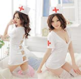 M_Eshop Women Naughty Nurse Lingerie Sexy Nurse Costume Lingerie Set