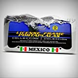Set of 2 Pcs - Mexican Flag Mexico Metal Heavy Duty Metal Eagle Tag Holder License Plate Frame Decorative Border