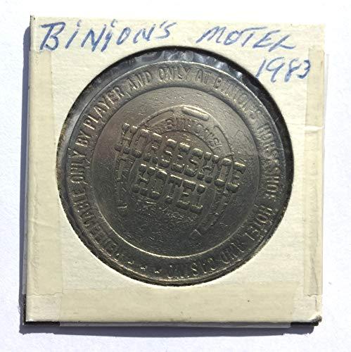 1951 Binion's Horseshoe Hotel & Casino, Las Vegas, Nevada One Dollar Gaming Token (Obsolete Design) $1 Used