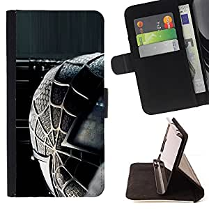 - Spider Superhero - - Prima caja de la PU billetera de cuero con ranuras para tarjetas, efectivo desmontable correa para l Funny HouseFOR LG OPTIMUS L90