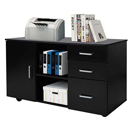 Amazon.com: Gabinete de archivos, 3 cajones, soporte de ...