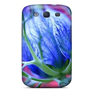 New Diy Design Blue Flowers Thorns For Galaxy S3 Cases Comfortable For Lovers And Friends For Christmas Gifts