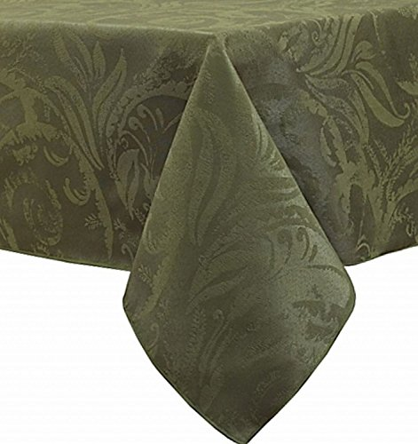 - Autumn Scroll Damask Fern Green Tablecloth, 60-by-104 Inch Oblong