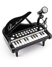 Amy & Benton Pianotoetsenbord, voor 1 2 3 jaar oud, voor meisjes en jongens, pianospeelgoed met microfoon voor peuters