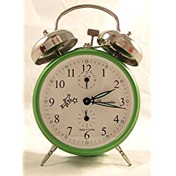 Sternreiter Double Bell Mechanical Alarm Clock – Green MM 111 602 34