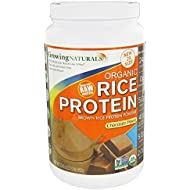 Growing Naturals Organic Rice Protein Powder, Chocolate, 952 Gram