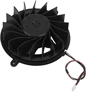 Zerone Replacement Internal Cooling Fan 17 Blades, Cooling Fan Cooler for Sony PlayStation 3 PS3 Slim Game Console Repair Part Kit Black