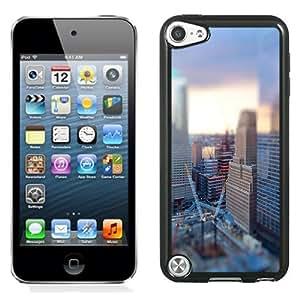 NEW Unique Custom Designed iPod Touch 5 Phone Case With Tilt Shift City Construction_Black Phone Case