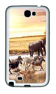 African Savanna Custom Samsung Galaxy Note II N7100 Case Cover ¡§C TPU ¡§C White