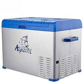 ZZKK Refrigerador de Coche Lxn compresor portátil Nevera congelador Coche y hogar están Disponibles 12V/24V/220V (tamaño: 50L): Amazon.es: Deportes y aire ...