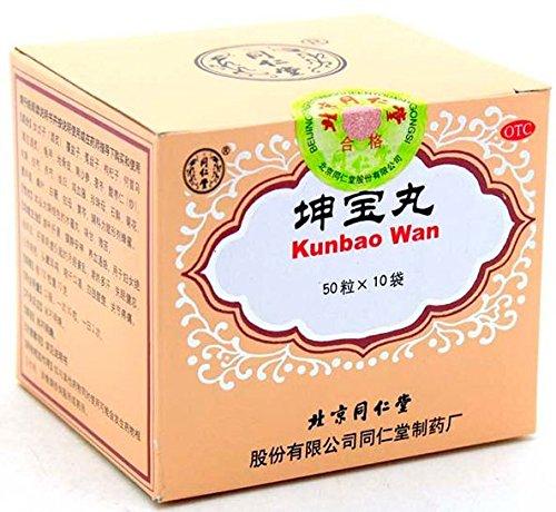 Tong Ren Tang - Kun Bao Wan, à base de plantes remède contre la ménopause (sacs de 50 comprimés minuscules X 10)