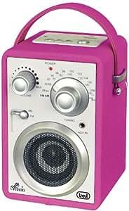 Trevi MRA 784 USB Portátil Rosa - Radio (Portátil, AM, FM, Alcalino, AA, UM3, SD)