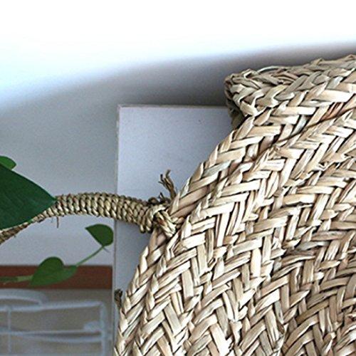 Straw Handmade SODIAL Beach Summer Circle Bag Rattan bag Shoulder Vintage Bohemian Shoulder Bag Women For Round Bag wxHH1YEqr5