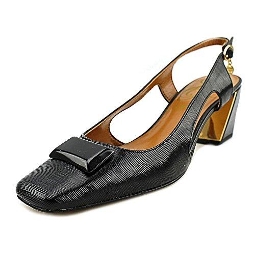 (J. Renee Women's Samina Slingback,Black Faux Crinkle Patent Leather,US 7.5)