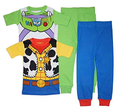 Toy Story Baby Boys' Infant Buzz Lightyear and Woody Cotton Pajamasm Multi, (Best Toy Story Joker Stories)