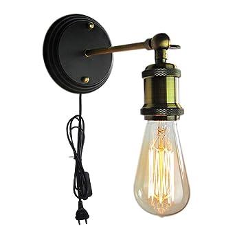 Mur Murale De Bronzé Industrielle Vintage Antique Applique Lampe rdsQBhxtC