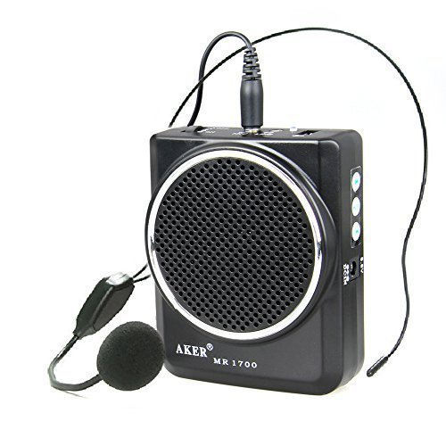 [Amplifier - AKER 3.5mm Portable Voice Amplifier With Microphone Headset 12W 7.5V 2000mAh Lithium Batteries] (Dance Fantastic Costumes)