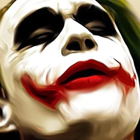 Amazon.com: Heath Ledger as The JOKER CANVAS Painting Poster Artwork on CANVAS ART Print (36x48 inches): Posters & Prints