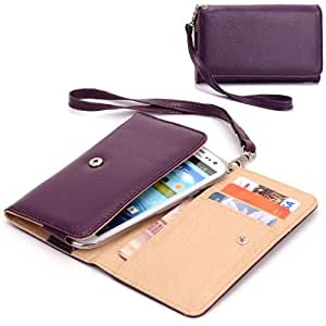 EXXIST® Classic Design Patent Leather Wallet / Clutch for Gionee Gpad G2 (Color: Purple) -ESMXWLU1