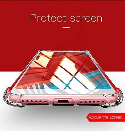 ZATX Clear Shockproof Ultra Slim Fit Silicone Back Bumper Crystal TPU Soft Gel Rubber Cover Shock Resistance for (Oneplus 6t)