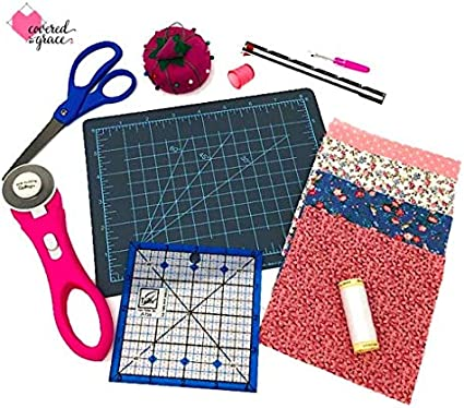 Patchwork Quilting Kit Complete Easy Project Wadding Pins Needles Instructions!