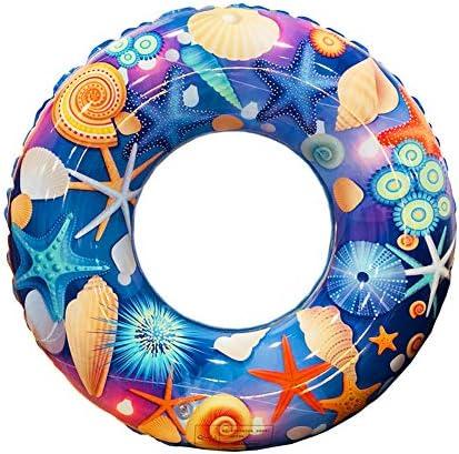 ZaH スイムリング 子供 大人 プール スイミングリング インフレータブル フロート ラフト ウォーター スイム チューブ サマー ビーチ パーティー 装飾 S ブルー X16