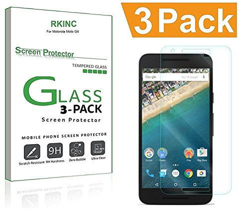 for LG Nexus 5X Screen Protector, [3 Pack] RKINC Tempered Glass Screen Protector for LG Nexus 5X with [9H Hardness] [Crystal Clear] [Scratch Resist]
