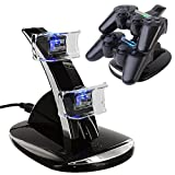 ICE FROG PS4 Controller Charger Dock, LED Dual USB Charging Stand Station Cradle for Sony Playstation 4 Gaming Control with LED Indicator by ICE FROG