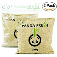 2X Activated Bamboo Air Purifying Odor Remover Charcoal Bag 250g Non Toxic Chemical Free Moisture Remover by PANDA FRESH