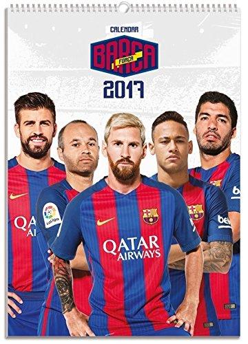 FC BARCELONA 2017 OFFICIAL WALL CALENDAR A3