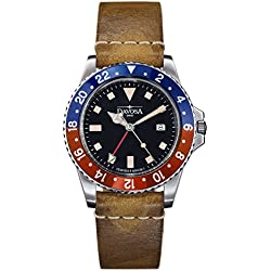 Davosa Swiss Quartz Vintage Diver 16250095 Men Wrist Watch Genuine Leather