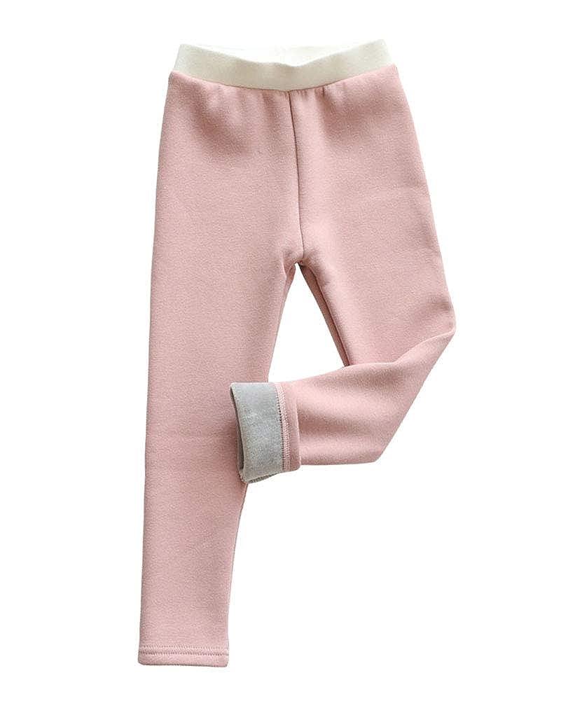 Bambini Ragazze Leggings in Foderati Pantaloni Addensare Invernali Lunghi Spessi Stretch Pantalone